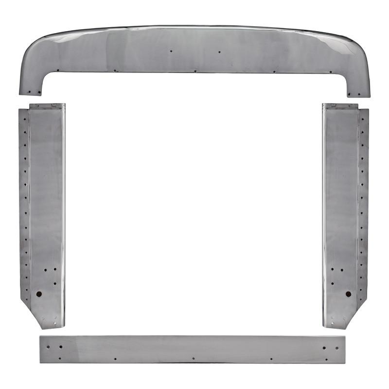 Peterbilt 359 Grill Surround Trim Set Stainless Steel Raney S Truck Parts