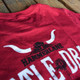 Cattle Drive Hammer Lane T-Shirt Back Close Up