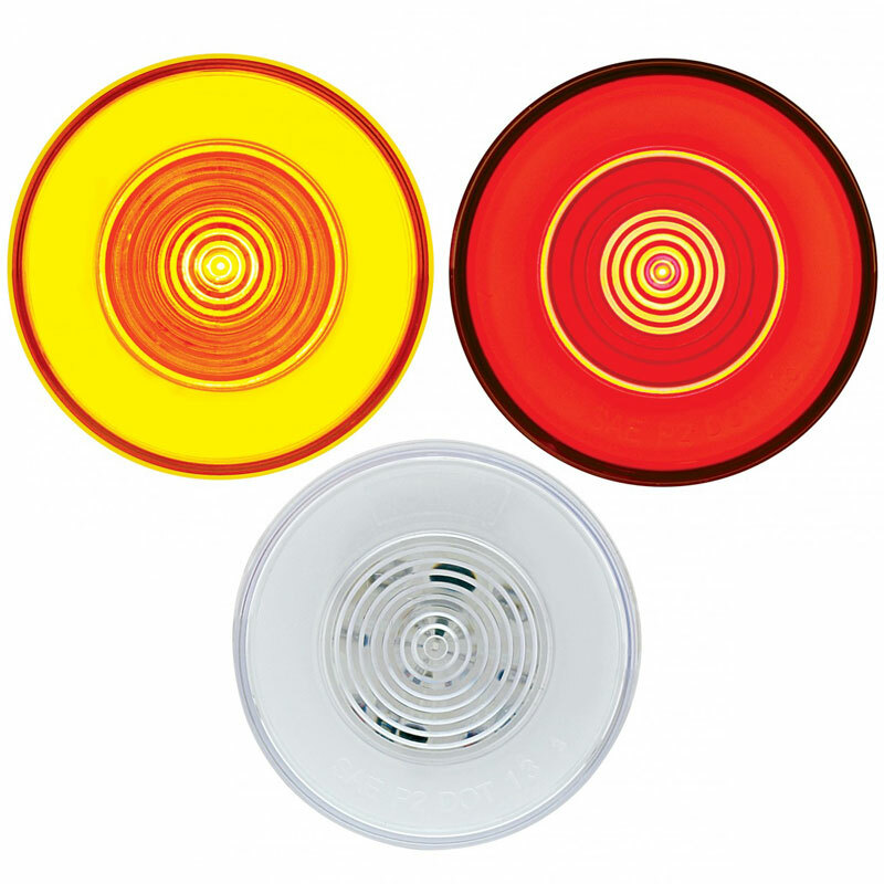 "9 LED 2 1/2"" Clearance Marker GLO Light Lit"