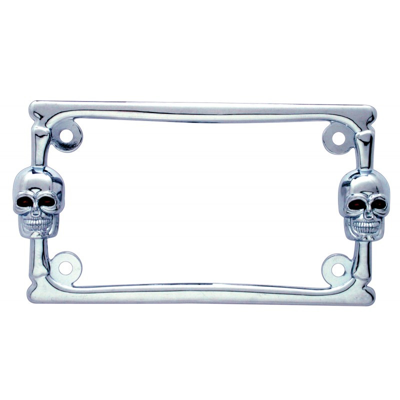 Universal Skull Motorcycle License Plate Frame - Raney\'s Truck Parts