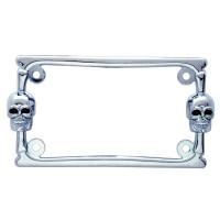 Universal Skull Motorcycle License Plate Frame