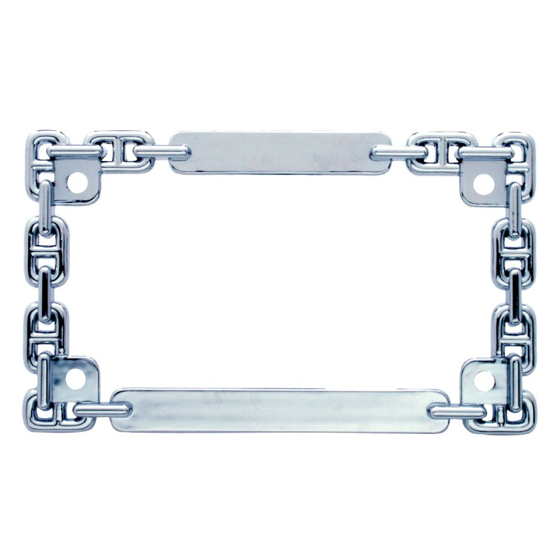 Universal Chain Link Motorcycle License Plate Frame - Raney\'s Truck ...