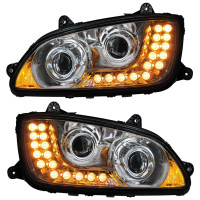 Kenworth T660 T700 Chrome Projector Headlights