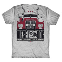 Diesel Dog Hammer Lane Trucker T-Shirt Back