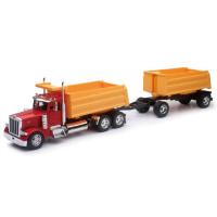 Peterbilt 379 Dump Truck With Dump Trailer 1/32 Scale