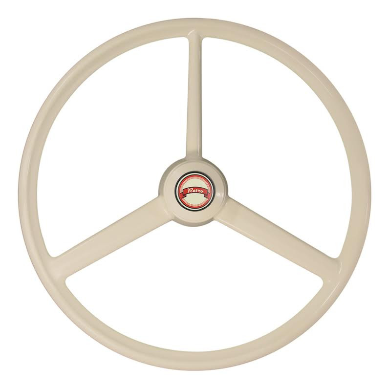 "20"" Retro Bone 3 Spoke Steering Wheel"