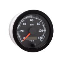 "Semi Truck 3 3/8"" Electrical Speedometer Gauge Vision Black 120 MPH"