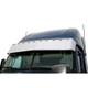 """16"""" Freightliner Cascadia Standard Mount Visor With Lights Close Up"""