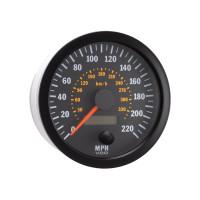 "Semi Truck 4"" Electrical Speedometer Gauge Vision Black 220 MPH"