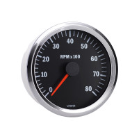 Semi Truck Electrical Programmable Tachometer Gauge Vision Chrome 8000 RPM
