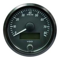 "Semi Truck 3 1/8"" Tachometer Gauge SingleViu Black"