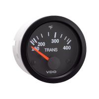 Semi Truck Electrical Transmission Temperature Gauge Vision Black