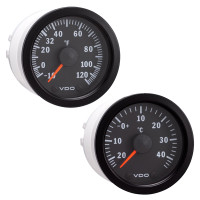 Semi Truck Electrical Outside Temperature Gauge Kit Vision Black