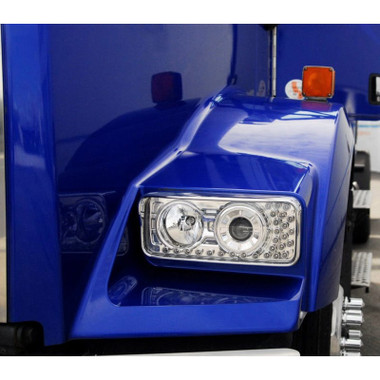 kenworth w900 t800 t600 projector headlights with led turn. Black Bedroom Furniture Sets. Home Design Ideas