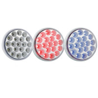 "4"" Round Dual Revolution Red And Blue LED Light"