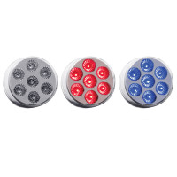 "2"" Round Dual Function Red & Blue LED Marker Light"