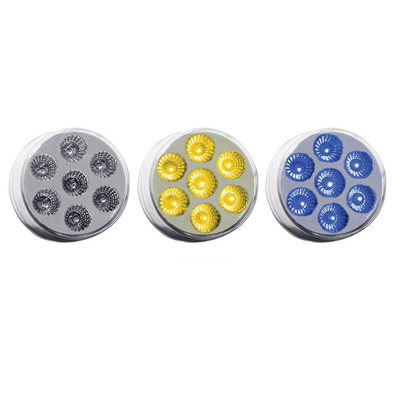 "2"" Round Dual Function Amber & Blue LED Marker Light"