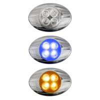 Millenium M3 Style Dual Revolution Amber & Blue LED Marker Light