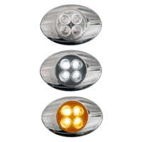 Millenium M3 Style Dual Revolution Amber & White LED Marker Light