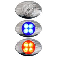 Millenium M3 Style Dual Revolution Red & Blue LED Marker Light