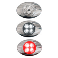 Millenium M3 Style Dual Revolution Red & White LED Marker Light