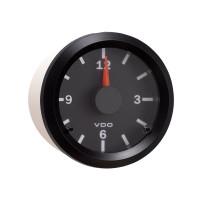 Semi Truck Electrical Analog Clock Gauge Vision Black