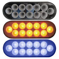 Oval Dual Revolution Amber & Blue LED Marker Light