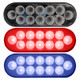Oval Dual Revolution Red And Blue LED Marker Light