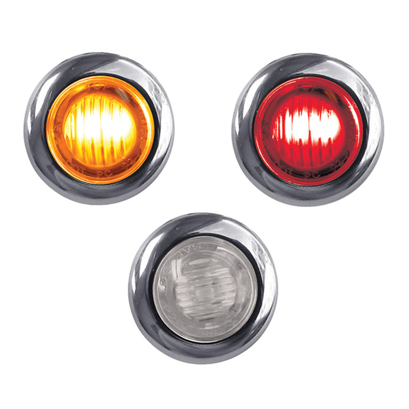 Mini Button Dual Revolution Amber Amp Red Led Marker Light