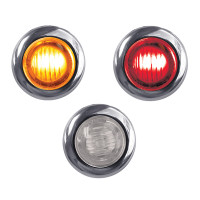 Mini Button Dual Revolution Amber And Red LED Marker Light