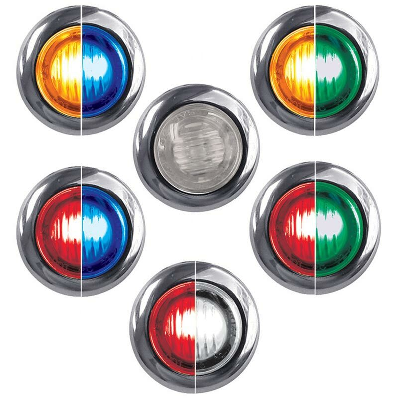 Mini Button Dual Revolution LED Marker Light