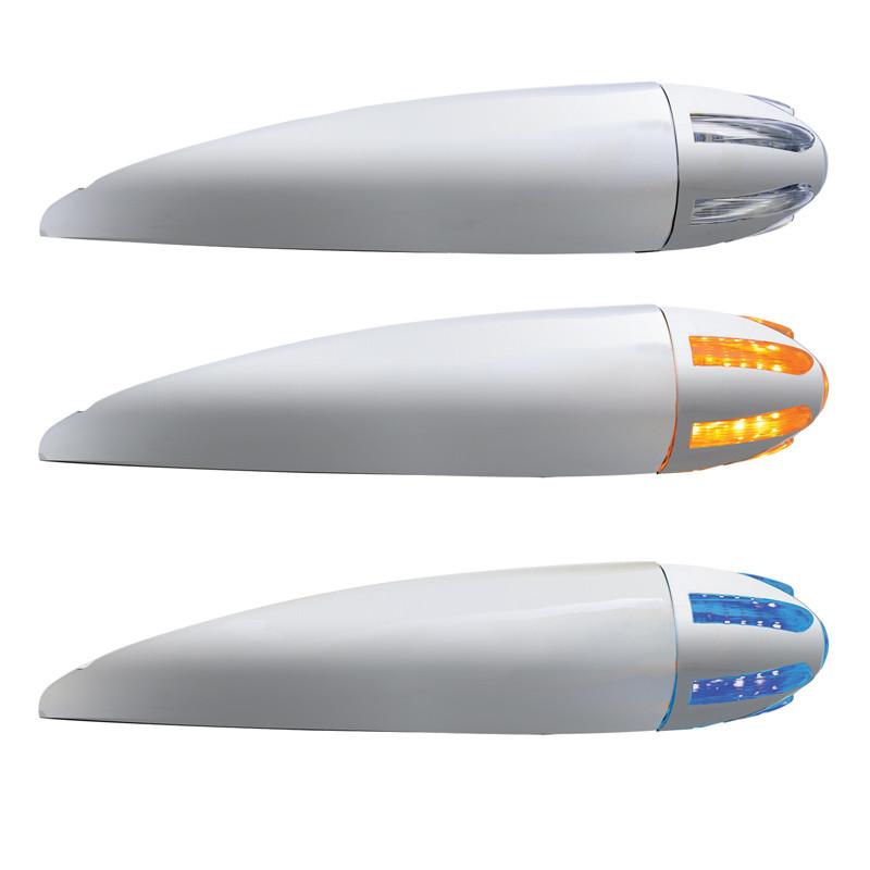Dual Revolution Amber And Blue LED Bullet Cab Light