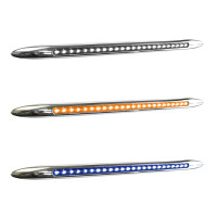 "17"" Dual Revolution Flatline Amber & Blue LED Marker Light"