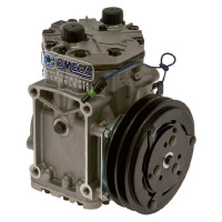 York Style AC Compressor With Clutch 1 Wire ET210L Aftermarket