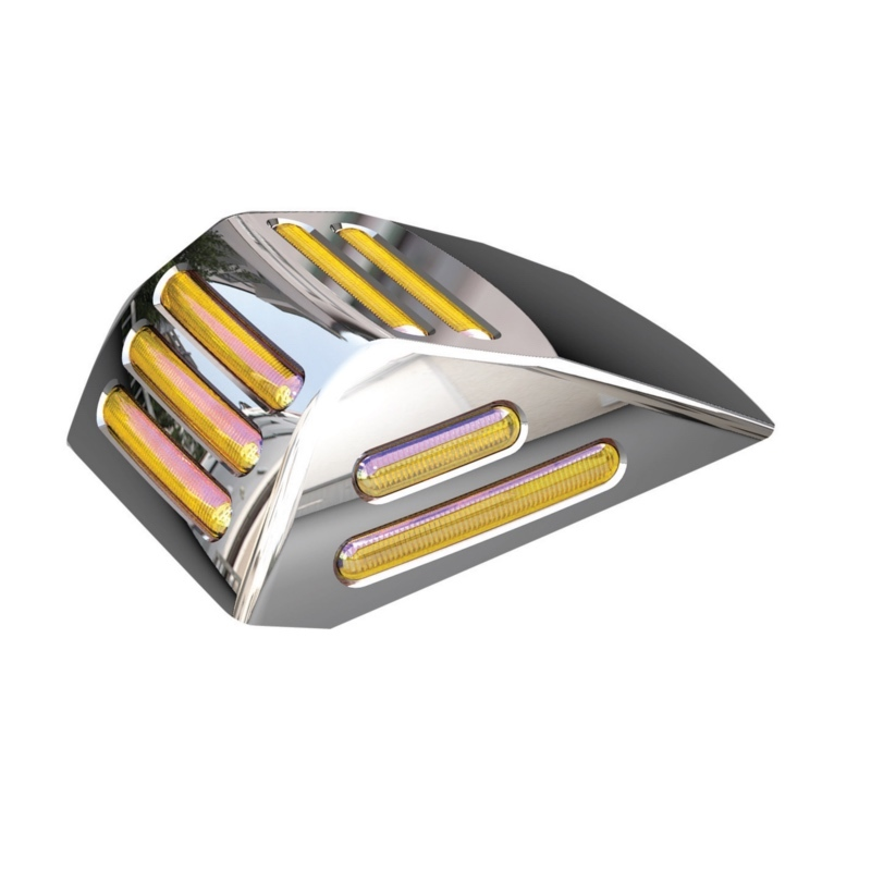 Flatline Square Cab 34 Diode Amber LED Light with Amber Lens