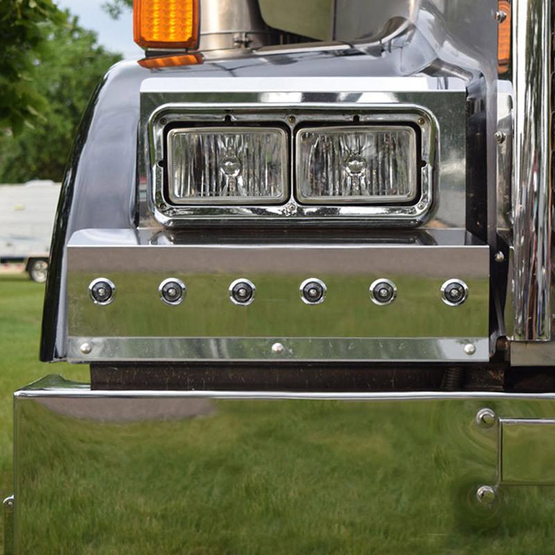 Kenworth W900L Bullseye Fender Guards Close Up