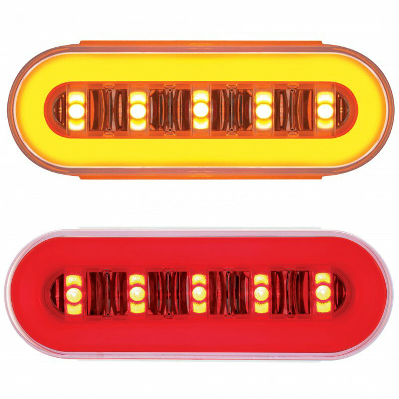 "6"" Oval STT & PTC GLO LED Light Fully Lit"