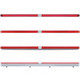24Š— Dual Function GLO Light Bar With Chrome Housing Red