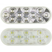 "6"" Oval Competition Series Back Up Light Lit And Off"