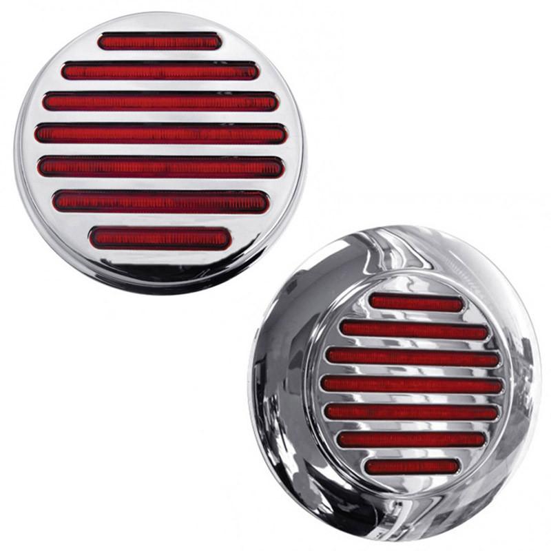 """4"""" Round Flatline STT Red LED Light"""