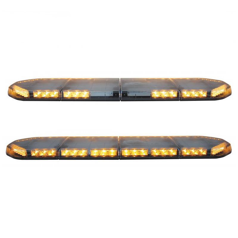 """49"""" High Power LED Warning Light Bar 12 and 16 Lit Lightheads"""