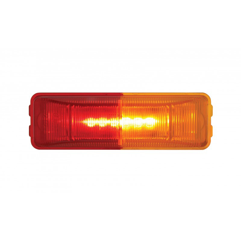 Lit Dual Color 6 LED Fender Mount Clearance Marker Light