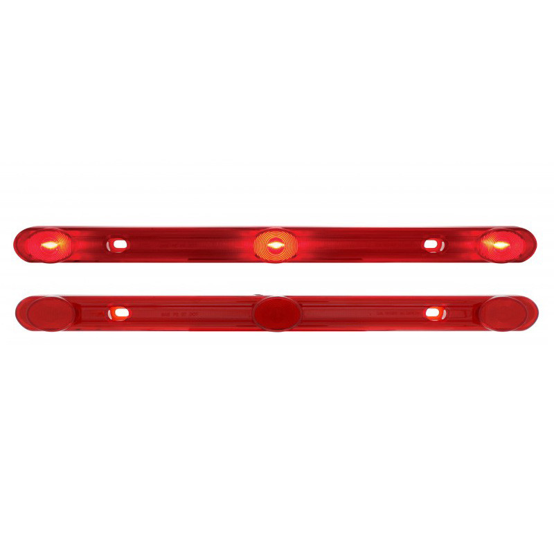 14 14 red led id light bar raneys truck parts red 3 led 14 14 id light bar front lit and unlit aloadofball Image collections