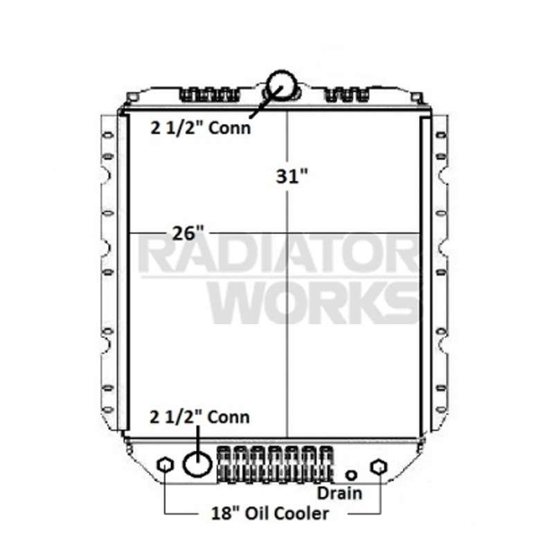 1978 international 1700 loadstar wiring diagram international 1600 1700 4600 4900 radiator with oil cooler ... #12