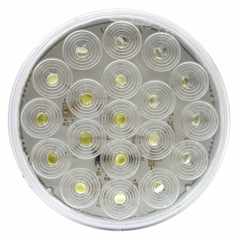 "4"" Round White Back-Up LED Light"