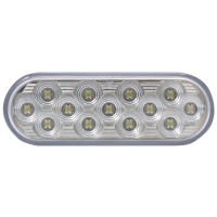 "4"" Oval Mirror White Back-Up LED Light"