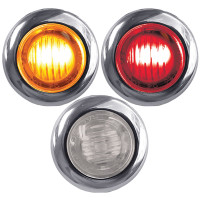 Mini Button Amber, Clear Amber, Red, Clear Red LED Marker Light