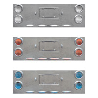 Extra Wide Rear Center Panel With Red & Blue Dual Revolution LEDs