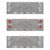 Extra Wide Rear Center Panel With Red & White Dual Revolution LEDs