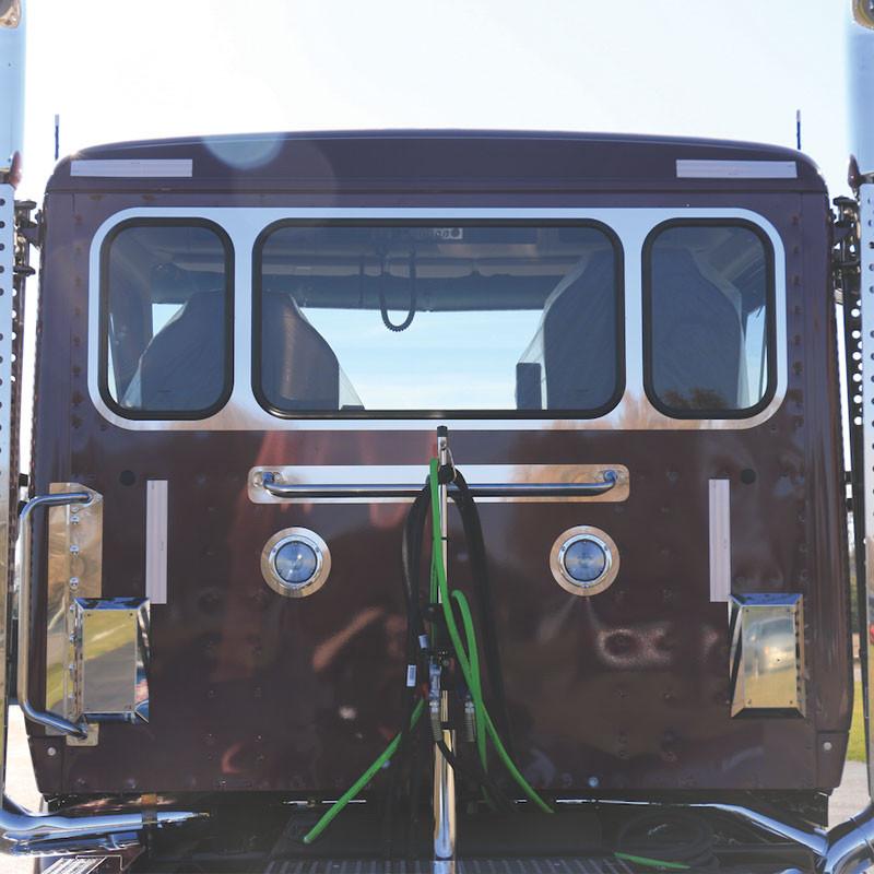 Kenworth T680 T880 Daycab Rear Window Trim For 3 Windows